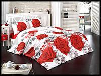 Комплект постельного белья First Choice бязь Roses полуторка (kod 3507)