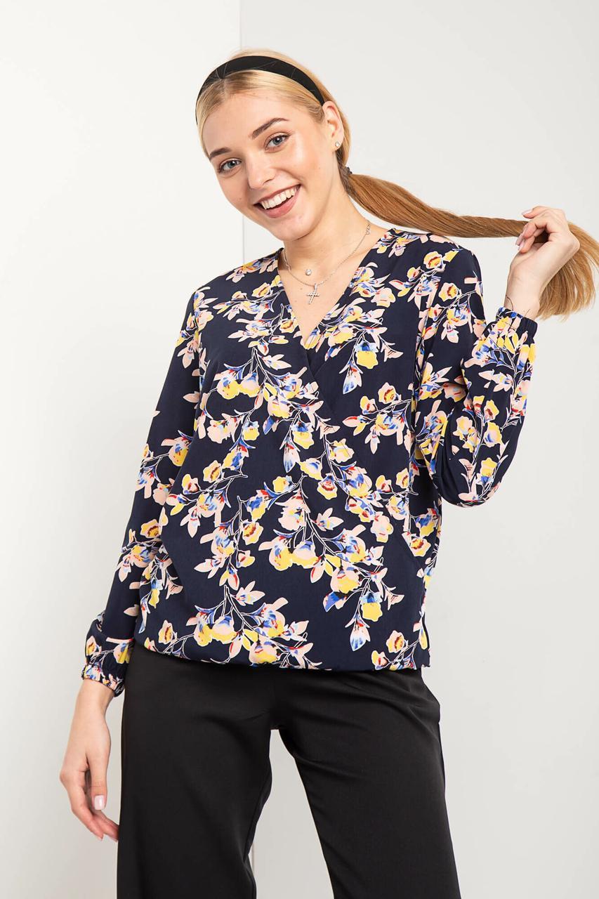Легкая блуза ALISE с эффектом запАха на резинке