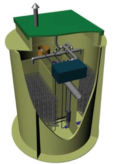 """Станція біоочистки BIOPLANT L в поліпропіленовому корпусі, монтаж в """"зеленій"""" зоні"""