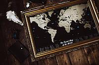 СКРЕТЧ КАРТА Black and Gold Screch Map подарок на 8 марта