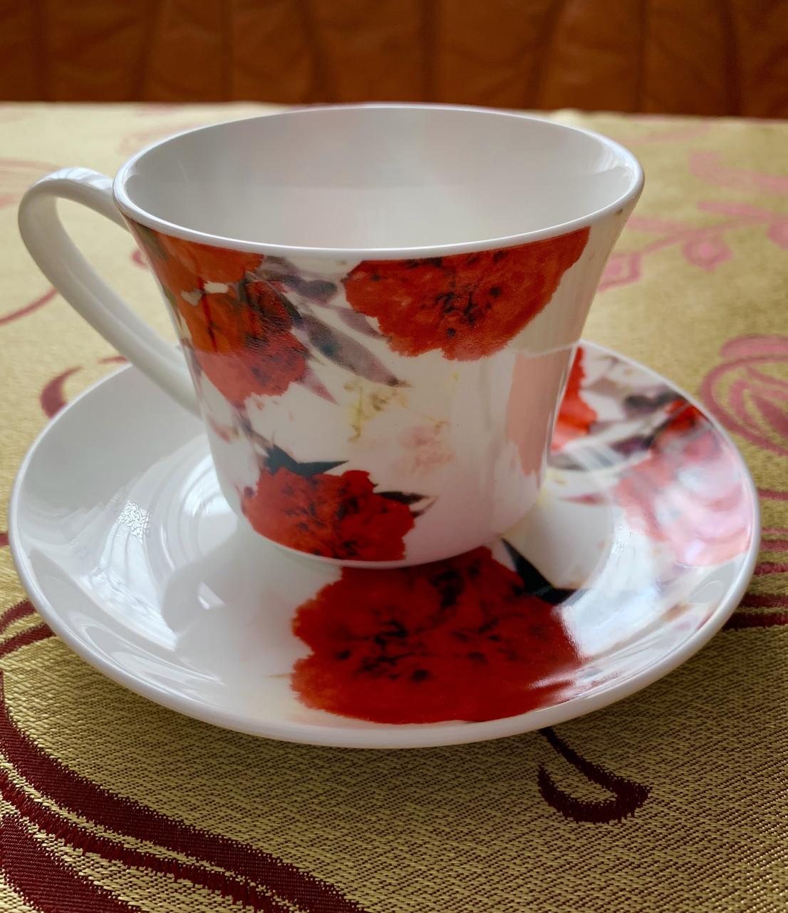 Набір із чашок та блюдець Alpari DS-2002R Pink
