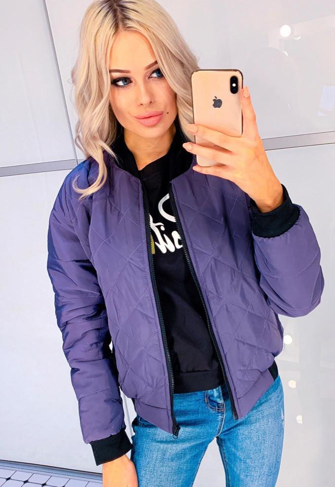 Женская модная куртка Ромб синтепон 150