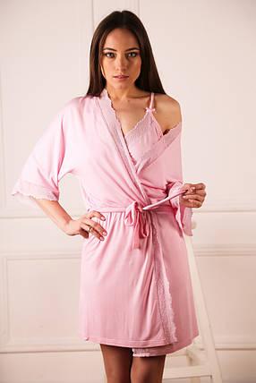 Комплект халат + ночная рубашка, фото 2