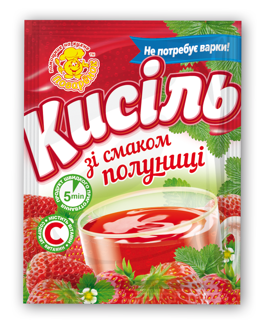 Кисель со вкусом клубники 65 г