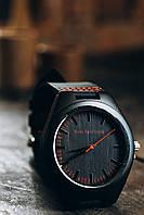 Лучший подарок на 8 Марта! Деревянные наручные часы красного цвета