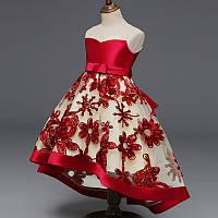 Детское бальное пышное платье с шлейфом на 5 — 7 лет
