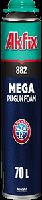 Пена монтажная профессиональная Akfix SUPER MEGA 882 70 л 850 мл зимняя