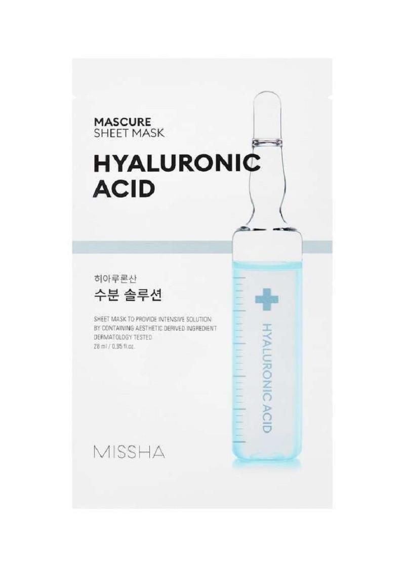 Тканевая маска для лица с гиалуроновой кислотой Missha Mascure Hydra Solution Sheet Mask 28 мл (8809581456549)