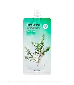 Нічна маска з екстрактом чайного дерева Missha Pure Source Pocket Pack Tea Tree 10 мл (8806185781848)