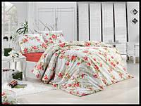 Комплект постельного белья First Choice бязь Lal pembe полуторка (kod 3510)