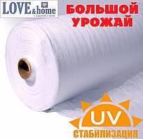 Агроволокно белое, плотность 17г/м², ширина 1,6м. длинна 50м.