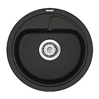 Кварцевая кухонная мойка VANKOR Polo PMR 0144 черная