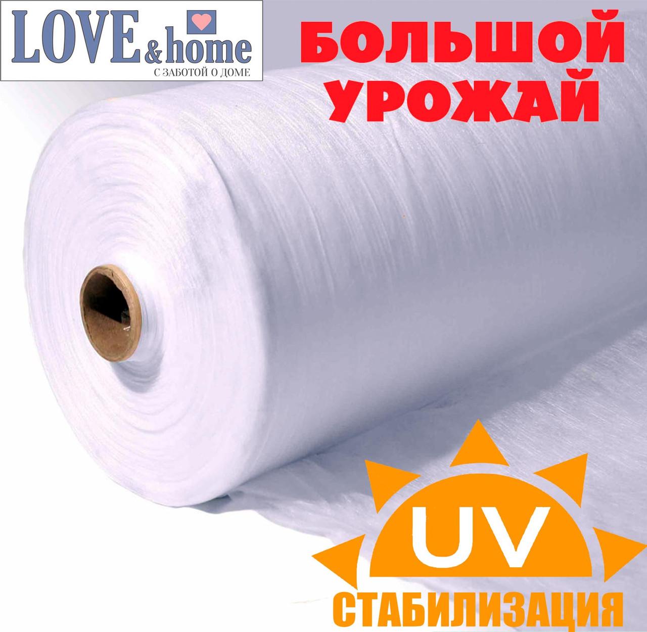 Агроволокно белое, плотность 17г/м², ширина 1,6м. длинна 100 м.