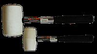 Киянка резиновая 70mm,680g, белая резина, металлич. ручка
