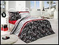 Комплект постельного белья First Choice бязь Tango siyah полуторка (kod 3516)