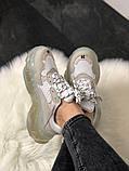 Женские кроссовки Balenciaga Triple Clear Sole White Grey, женские белые кроссовки баленчиага трипл с, фото 2