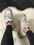 Женские кроссовки Balenciaga Triple Clear Sole White Grey, женские белые кроссовки баленчиага трипл с, фото 3