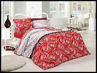 Комплект постельного белья First Choice бязь Tango kirmizi полуторка (kod 3517)