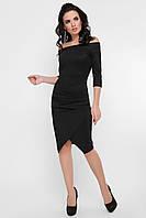 Черное платье с драпировкой, фото 1