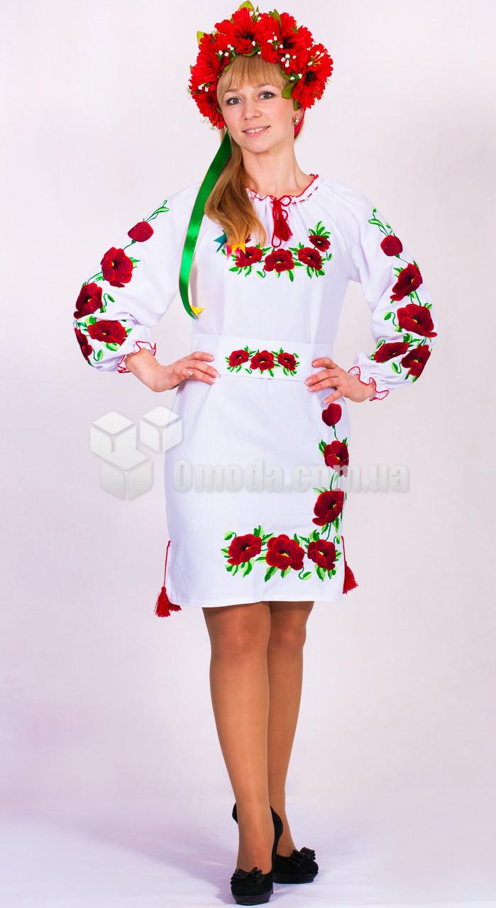Платье вышитое Полотно