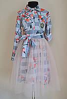 Нарядное детское платье на девочку со съемной юбкой 140 размер, фото 1