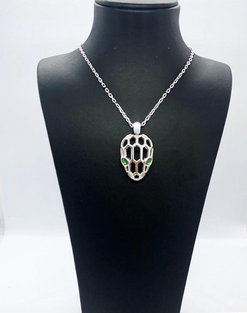 """Колье из серебра 925 в стиле Bulgari """"Ящерица"""""""