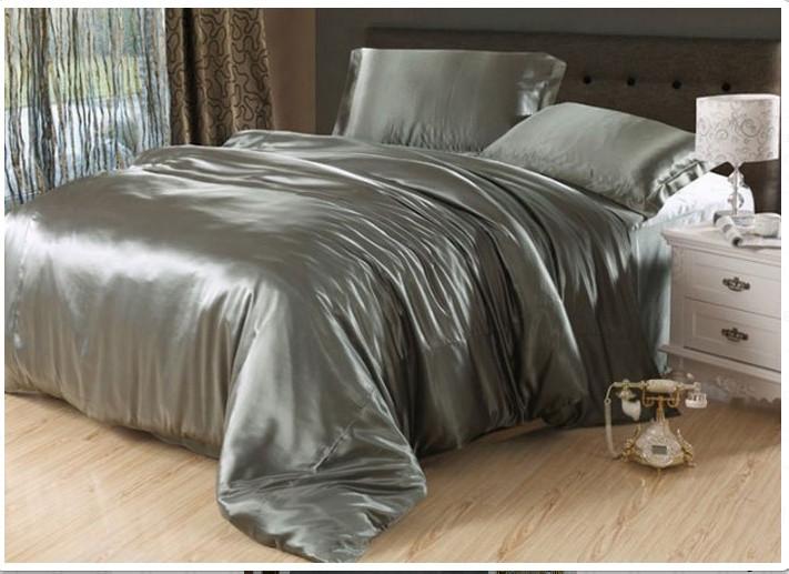 Комплект постельного белья Атласное Металлик КПБ