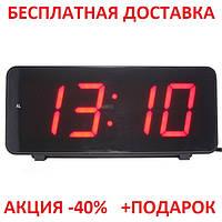 Часы настольные комнатные электронные с будильником LED -дисплей GREEN Original size, фото 1
