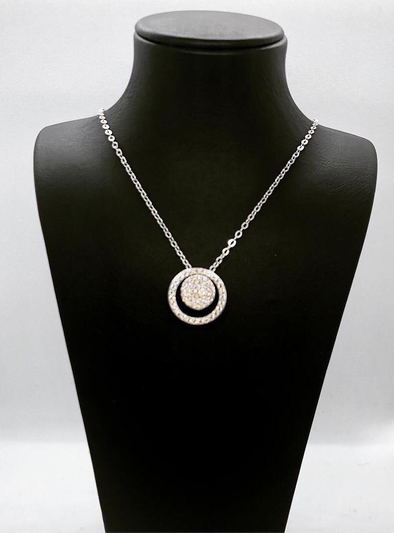 "Кулон из серебра 926 Beauty Jewels покрыт родием ""окружности"""