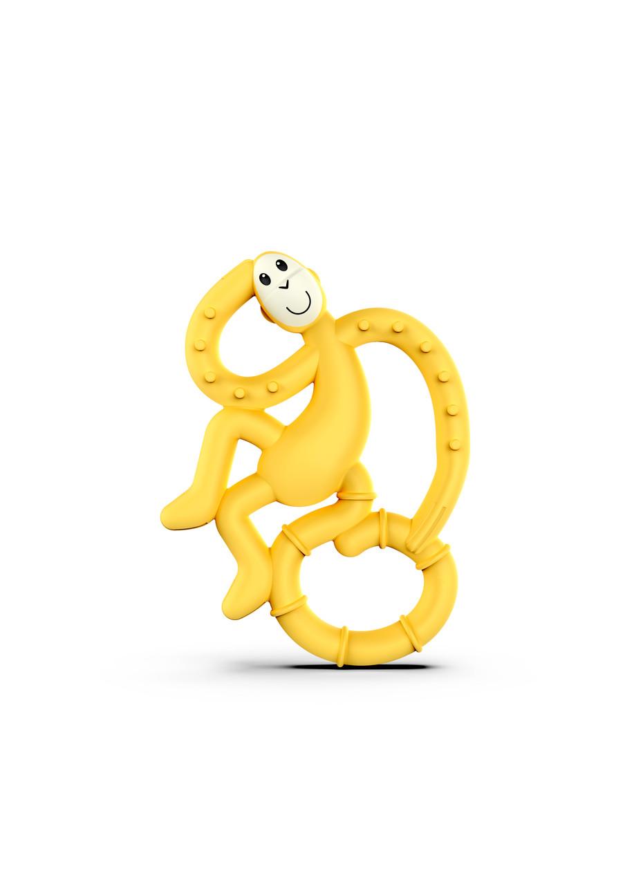 Игрушка-прорезыватель Matchstick Monkey Маленькая Танцующая Обезьянка (цвет желтый, 10 см)