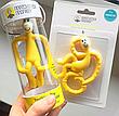 Игрушка-прорезыватель Matchstick Monkey Маленькая Танцующая Обезьянка (цвет желтый, 10 см), фото 3