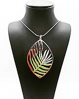 Колье из серебра 925 Beauty Jewels с узором в виде пальмовых листьев плетение снейк