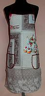 Передник ( фартух ) льянной с нагрудником (N-132)