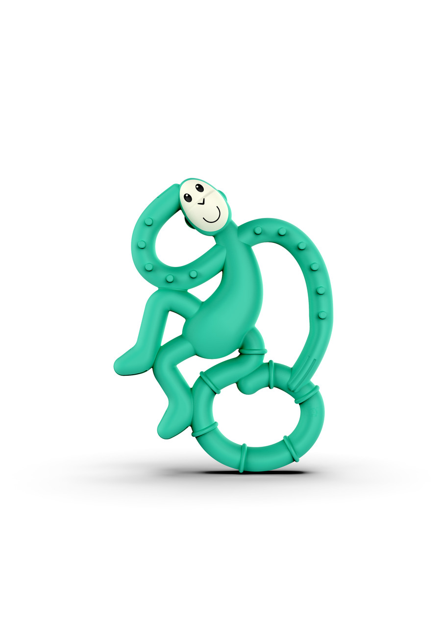 Игрушка-прорезыватель Matchstick Monkey Маленькая Танцующая Обезьянка (цвет зеленый, 10 см)