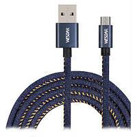 Кабель USB (папа) = micro USB T8 Wesdar 1m Denim (RL046818)