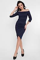 Элегантное темно-синее платье, фото 1