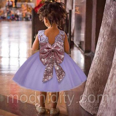 af5d8f29b1caa57 Детское пышное нарядное платье с золотым бантом для девочки