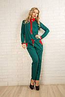 Теплый женский комбинезон 411 опт и розница Зеленый