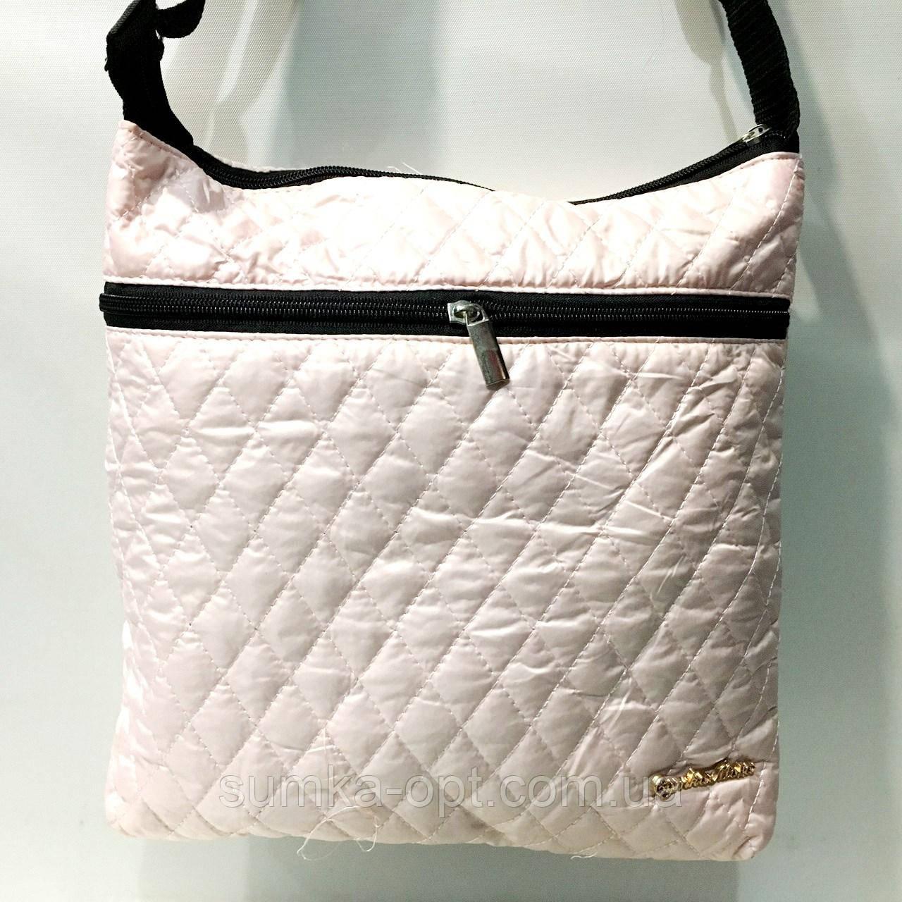 Женские стеганные сумки дешево опт до 100грн (белый)27*29см