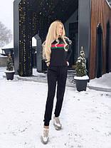 Костюм теплый вязаный штаны и кофта с полосой GG, фото 3
