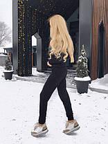 Костюм теплый вязаный штаны и кофта с полосой GG, фото 2