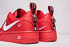 "Мужские кроссовки Nike Air Force 1 '07 LV8 Utility ""Red"" (в стиле Hайк Аир Форс низкие) красная, фото 6"