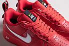 "Мужские кроссовки Nike Air Force 1 '07 LV8 Utility ""Red"" (в стиле Hайк Аир Форс низкие) красная, фото 7"