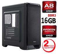 Персональный компьютер 4 ЯДРА AMD A8-7680 (3,8GHz) / DDR3_16Gb / HDD_500Gb / RADEON R7 250 2Gb