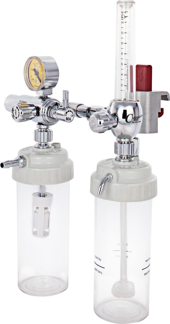 Турбовакуумный регулятор (эжекционный отсос, аспиратор Вентури) и флоуметр с креплением рейкового типа - DIN
