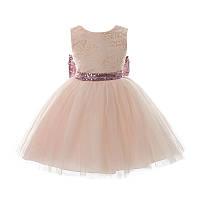 """Детское пышное нарядное платье с бантом для девочки """"Золотце Персик"""" на 2 — 3 лет"""