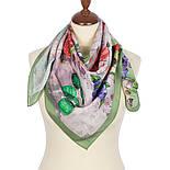 Мадемяузель 10089-10, павлопосадский платок (крепдешин) шелковый с подрубкой, фото 2