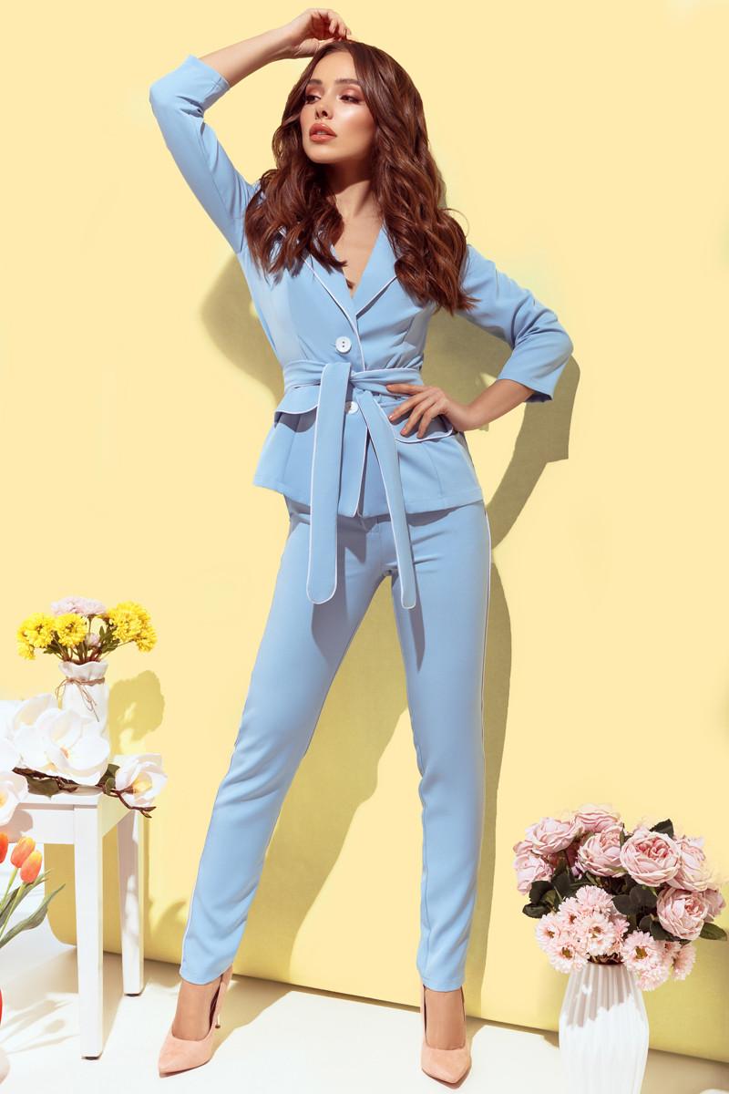 Женский брючный костюм Голубой
