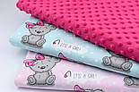 Плюш minky розово-малинового цвета М-11134, фото 2