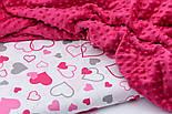 Плюш minky розово-малинового цвета М-11134, фото 4
